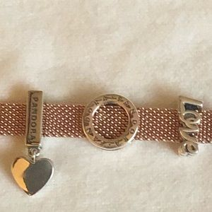 pandora reflection bracelet rose gold
